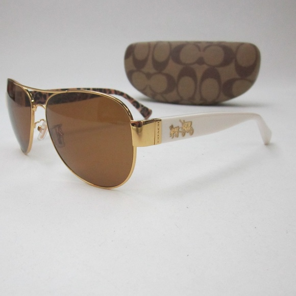 86c243415b2c ... low price coach hc 7059 l138 aviator sunglasses oln129 12a3b 54382